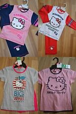 GIRLS HELLO KITTY PYJAMAS TOP TROUSERS SHORTS AGE 5 6 7 8 9 10 11 12 FREE P&P AB