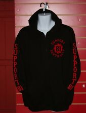 Hells Angels Wales  - Top Quality Support 81 South West Hoodie in Black & Red