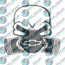 Chevy gas mask piston mask decal sticker indoor outdoor