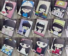 Cute Cartoon Girl Wallet Leather Flip Case Cover Stand For iPad Air / iPad 5