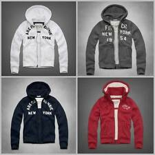NEW Abercrombie & Fitch Men's Premium Hoodie [East River Trail, Dickerson Notch]