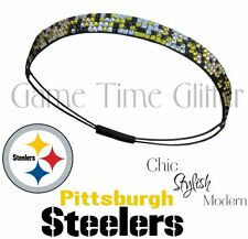 Pittsburgh Steelers Womens Team Color Rhinestone Headbands Wear w/ Game Jersey