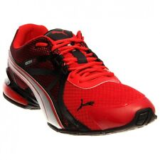 Mens Puma Voltaic 5 Comfort Running Sneakers New, Red Blk Silver 187345-01