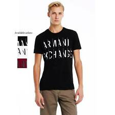 New Armani Exchange Mens Muscle Slim Fit Sliced Logo Hertiage Tee Shirt g6x704