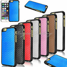 Ultra Thin Carbon Fiber Leather Hard Matte Case Cover For Apple iPhone 6 4.7