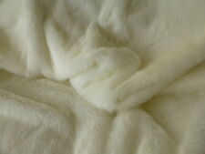 Luxury, White Synthetic  Faux Fur Fabric,   Very Soft  - Multi Listing (¼m-1m)