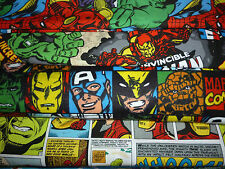 ASSORTED MARVEL COMIC SUPER HEROES FABRIC/FQ/FAT QUARTER/REMNANT COTTON quilting