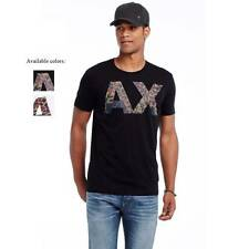 New Armani Exchange Mens Muscle Slim Fit Camo Logo Tee Shirt g6x774