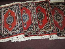 xx-small wool Oriental Sample Rug car mat doll house cat/dog bed bronze display