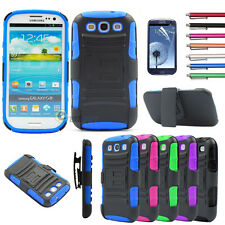 Hybrid Best Impact Dual Layer Stand Case Cover For Samsung Galaxy SIII S3 i9300