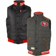 San Francisco 49ers Legacy Puffer Reversible Vest – Gray/Black By G-III