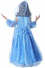 Frozen Princess Elsa cosplay costume Xmas Party dress Girls kids perfect Girft