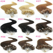 100S 50g Remy Women Remy Human Hair Extensions Loops Micro Rings Bead  natural