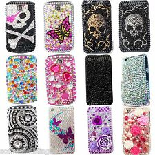 BLING BLACK PINK COOL DIAMANTE DIAMOND DESIGNER CASE COVER FOR HTC WILDFIRE / S