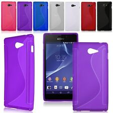 Gel TPU Rubber Silicone Case Cover Skin For Sony Xperia M2 S50h / M2 Dual D2302