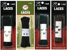 Black Shoe Boot Laces Pair Various Length Rothco
