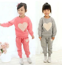 New Style Fashion Kids Toddler Girls Baby Tops+Trousers Pants Suit Sz12M-5Y Hot