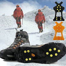 Ice Snow Stud Overshoes Spikes Cleats Grips Hiking Anti-Slip Grippers Crampons
