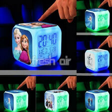Frozen Anna Elsa Color Change LED Digital Alarm Clock Watch Kid Lovely XMAS GIFT