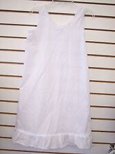 Toddler/Girls White cotton blend slip Sizes 2T to girls 14
