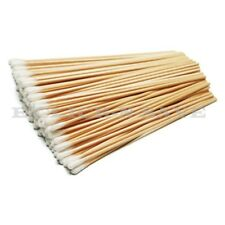 "6"" Extra Long Wood Handle Cotton Swab Applicator Q-tip Swabs Sturdy Makeup Stick"