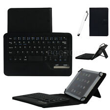 Universal Bluetooth Keyboard Case Cover For 7-8 inch Tablet PU Leather +Stylus