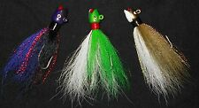 1 1/2oz Hot Lips/ Smiling bill style Bucktail Jig color choice Striper Weakfish
