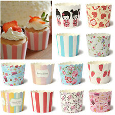50X Colorful Utility Cake Baking Paper Cup Cupcake Muffin Cases fit Home Party