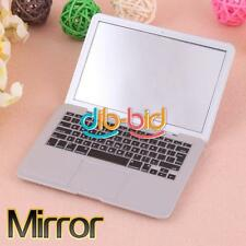 Portable Silver White Pocket Laptop Clear Glass Cosmetic Makeup Mirror Gift Home
