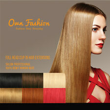 100% Remy Human Full Head Clip In Hair Extensions