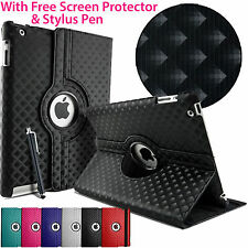 3D Diamond 360° Rotate Folding Stand Case Cover For Apple iPad & Samsung TAB 3