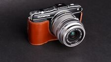 Genuine real COW leather case bag cover for Olympus EPM2 E-PM2 Camera Half case