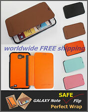 Safe & Perfect Wrap Samsung Galaxy Note N7000 i9220 PU Leather Flip Case Cover
