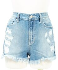 Ripped distressed denim short high waisted fray bottom hem Just USA Jeans