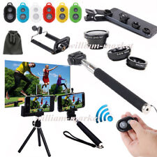 6in1 Phone Monopod/Tripod Mount Holder+Wireless Bluetooth Remote Control+Lens