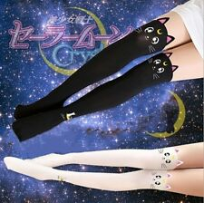 New Anime Sailor Moon Cosplay Cat Pattern Pantyhose Tights Leggings Xmas Gifts