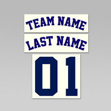Sports Team Name, Last Name, Number Set Iron On Heat Transfer, Arched Font