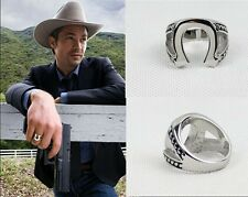 JUSTYFIED HORSESHOE RING Marshal Raylan TV Props Replica Stainless Steel Ring