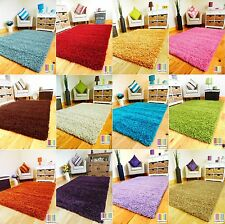 SMALL XX LARGE THICK SOFT MODERN PLAIN SHAGGY PILE AREA RUG BEDROOM OFFICE MAT