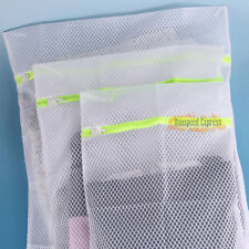 1× Zipped Laundry Bags Washing Mesh Net Clothes Socks Underwear Delicates S M L