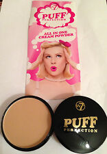 w7 PUFF PERFECTION ALL IN ONE CREAM FACE POWDER CHOICE OF COLOURS