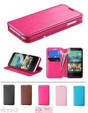 For HTC Desire 510 Myjacket Leather Flip Wallet Hard Case Cover Stand