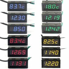 LED DC 12V 24V Car Digital 3 in 1 Voltage Temp Gauge Meter 18B20 Bramd New