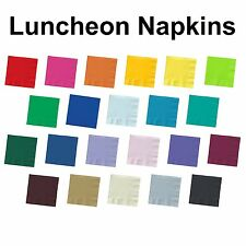 50ct 2 Ply Lunch Dinner Bar Party Napkins Solid Colors Disposable Paper Luncheon