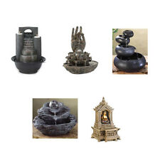 Figural Tabletop Tranquility Serenity Resin WATER FOUNTAIN UL Recognized