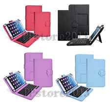 2in1 Detachable Wireless Bluetooth Keyboard With Leather Case For Various Tablet