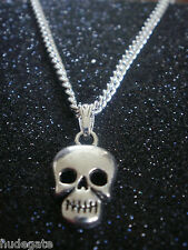 12 Silver Plated Necklaces with Skull Pendants Wholesale Jewellery Job Lot