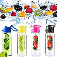 800ML Fruit Infusing Infuser Water Sports Health Lemon Juice Bottle Flip Lid