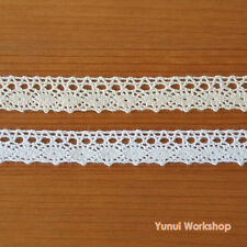 2 yards: 15mm Hanging Cluny Lace Edge Trim