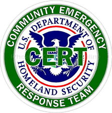 CERT Homeland Security Police EMS Rescue Firefighter Disaster Decal Sticker